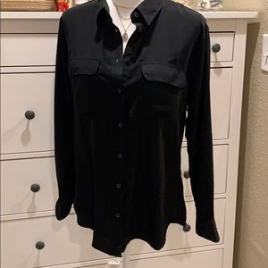 Central Park West button down collared top